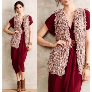 Hand Knit By Dollie Sherbet Loop Open Vest